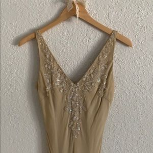 Scala Vintage 100% silk beaded gown